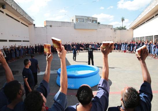 Baptism in prison