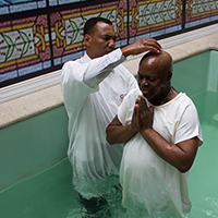 Baptized with Bishop Bira