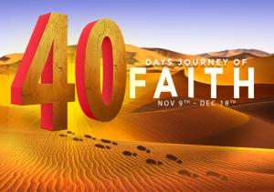 faith, universal church, 40 days, life transformation