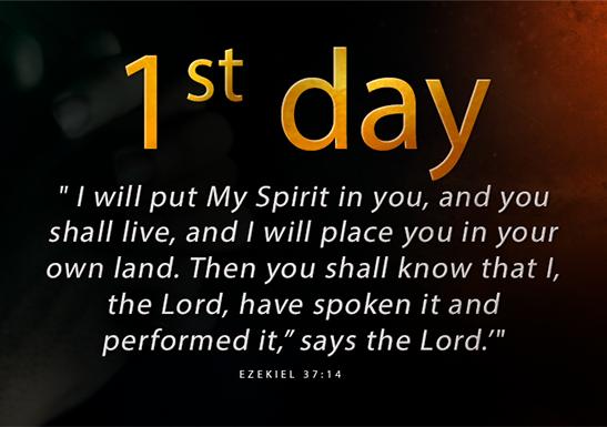 1st day fast of Daniel