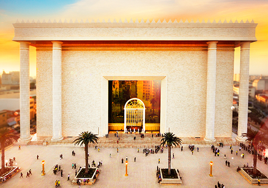 How to proceed when visiting the Temple of Solomon?
