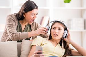shouting parent