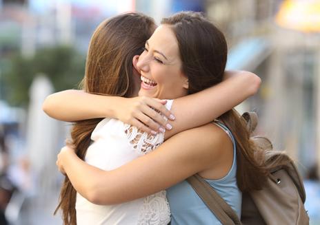 Hug between friends