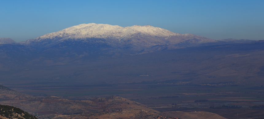A prayer from Mount Hermon