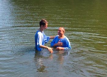 Collective baptism in Ukraine