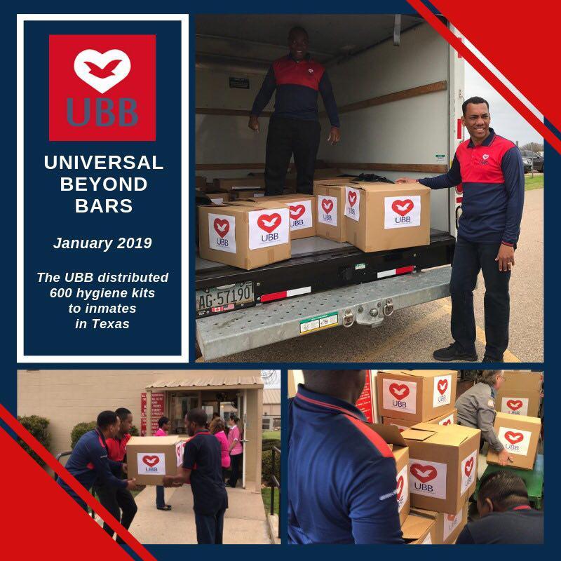 UBB Distributing Hygiene Kits