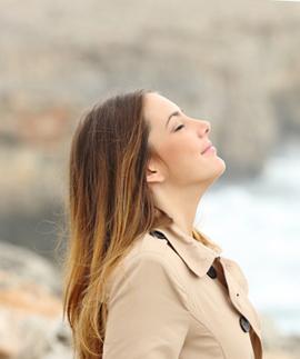 Breathing woman