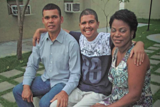 Jonathan with his family –he was 2 months in coma and 7 months in a vegetative state