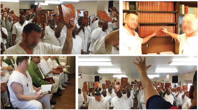 UBB event in Wayne Scott Unit in Texas where Study Bible were donated to inmates, staff and officers