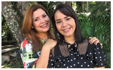 Eliana and daughter Tainara
