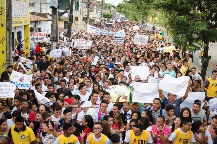 """FJU Ceará promove caminhada """"Vale a Pena Viver Sem Drogas""""2 min read"""